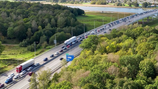 Olycka på E6 – kilometerlånga köer