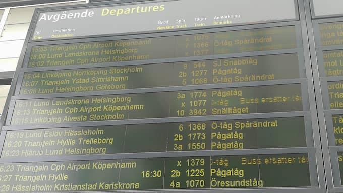 Ett signalfel på Kastrup ligger bakom tågstoppet. Foto: LÄSARBILD