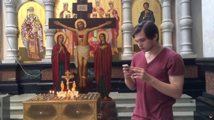 Ryske bloggaren Ruslan Sokolovskij åtalas. Foto: Youtube