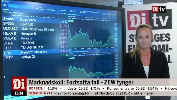 Di nyheter 15.30: Fortsatta fall - ZEW tynger
