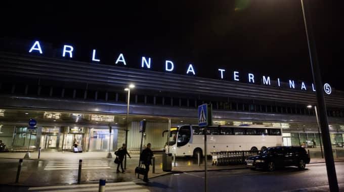 Planet var på väg till Arlanda, men tvingades nödlanda i Stavanger. Foto: Lisa Mattisson