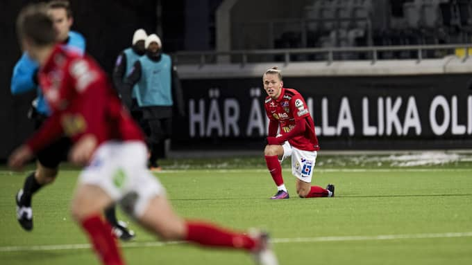 Falkenberg vill ner och vända i superettan men får klara det utan årets stjärnskott, Jesper Karlsson. Foto: ROBIN ARON