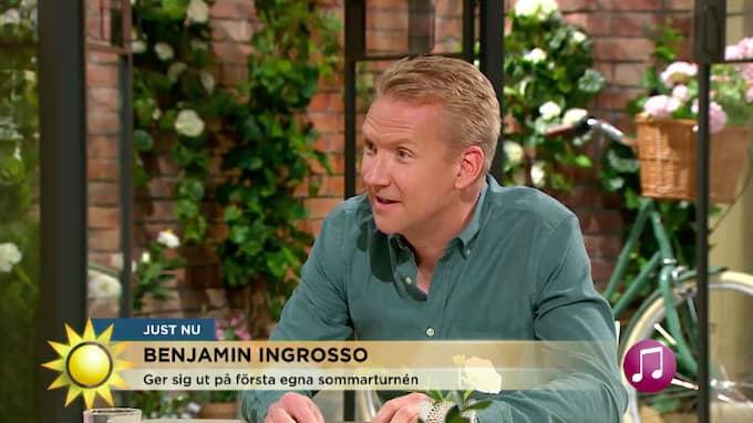 Jesper Börjesson ber om ursäkt i Nyhetsmorgon Foto: TV4