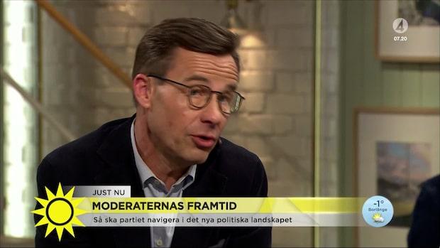 """Ulf Kristersson: """"I dag kan riksdagen köra över regeringen"""""""