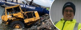 Martin, 47, sjönk till havets botten – satt fast i dumper