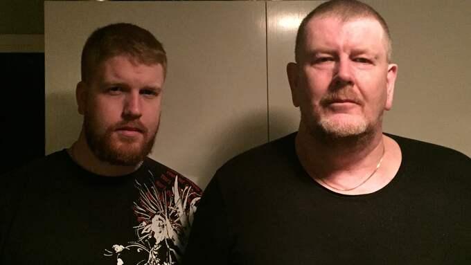 Bo Carlsson och sonen Kevin besökte minneslunden.