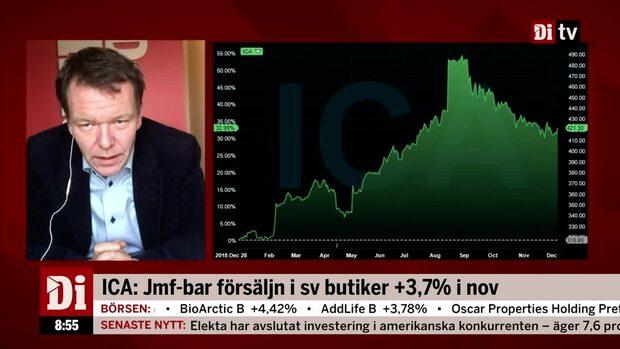 """Di:s analytiker om ICA:s försäljningssiffror: """"Tuggar på med bra tillväxt"""""""