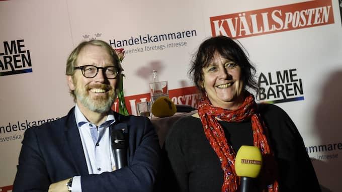 Per Tryding från Sydsvenska handelskammaren och Kv'lspostens chefredaktör Katrin Säfström står för arrangemanget. Foto: JENS CHRISTIAN