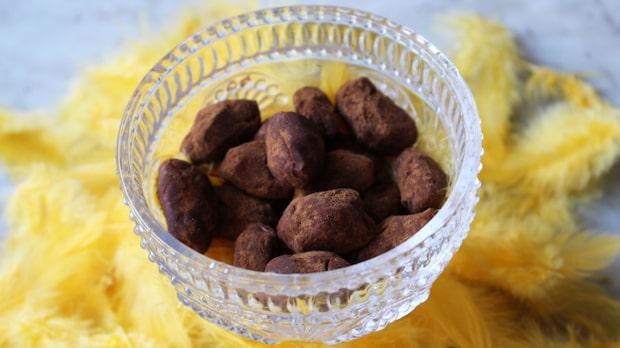 Chokladdränkta kanelmandlar
