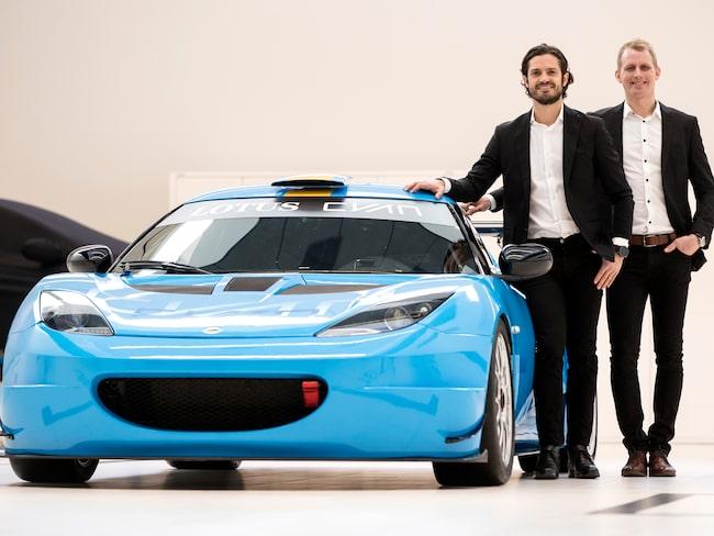 Prinsen ska köra en Lotus Evora GT4 i Swedish GT tillsammans med Richard Göransson,