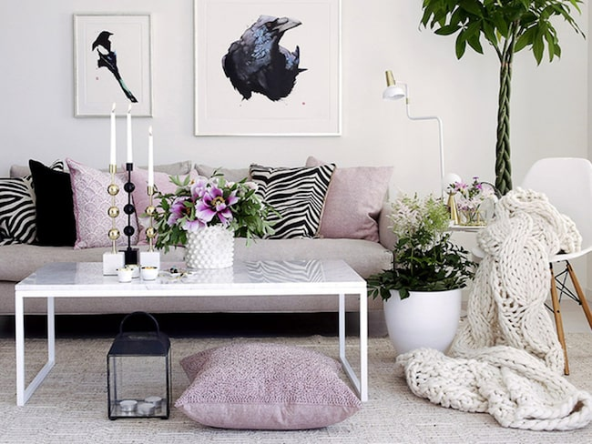 """""""Marmor passar extra bra till den ljusa skandinaviska stilen som många har hemma"""", säger Ulrika Nordlinder, redaktör för LEVA&BO. Klicka på plustecknet i bilden för att handla direkt hos LEVA&BO Shopping."""