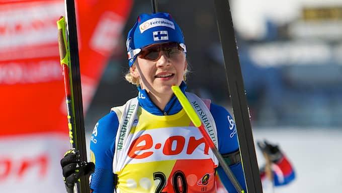 Kaisa Mäkäräinen är 35 år – och ifrågasatt. Foto: PÅL BERGSTAD / STELLA PICTURES