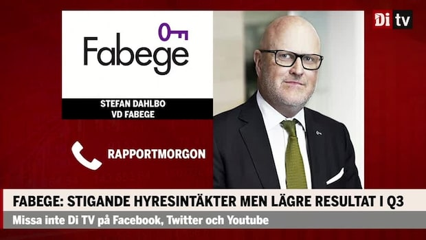 "Stefan Dahlbo vd Fabege om framtiden: ""Känner mig optimistisk"""