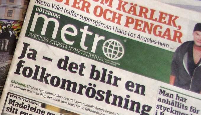 Gratistidningen Metro ges ut i Stockholm, Göteborg och Malmö. Foto: Leif Gustafsson