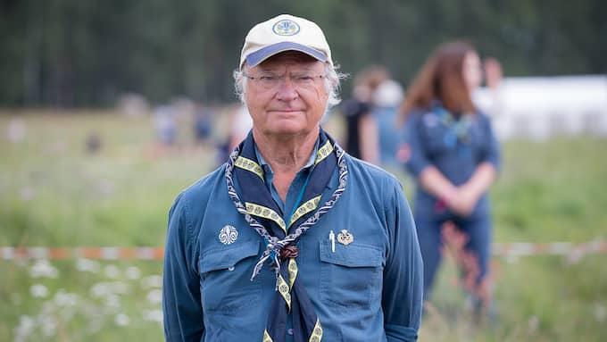 Carl XVI Gustaf har själv varit scout sedan barnsben. Foto: PEO MÖLLER / KVP/EXPRESSEN