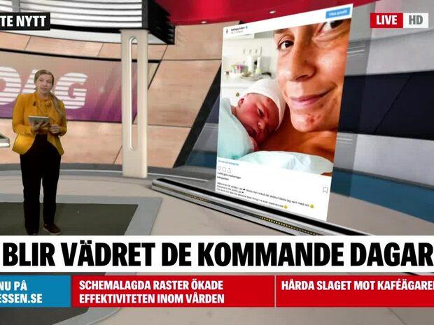 Isabelle Gulldén har blivit mamma