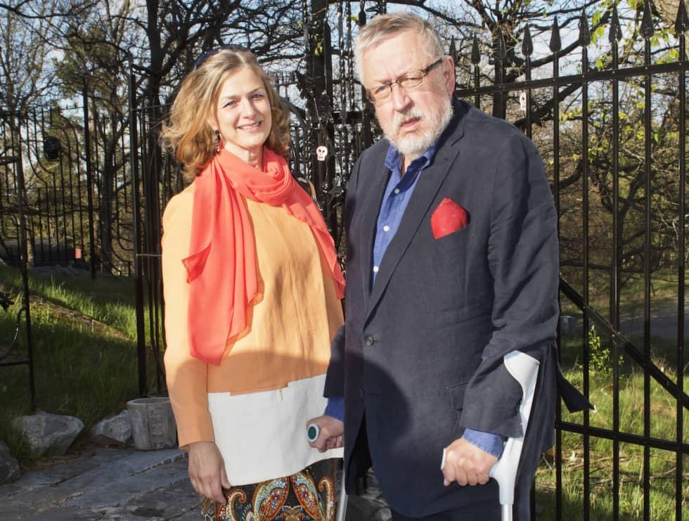Leif GW Persson tillsammans med sin hustru Kim Persson. Foto: Theo Elias Lundgren