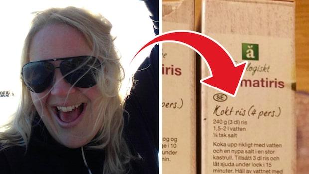 Sofia upptäckte att ris kokas annorlunda i Sverige