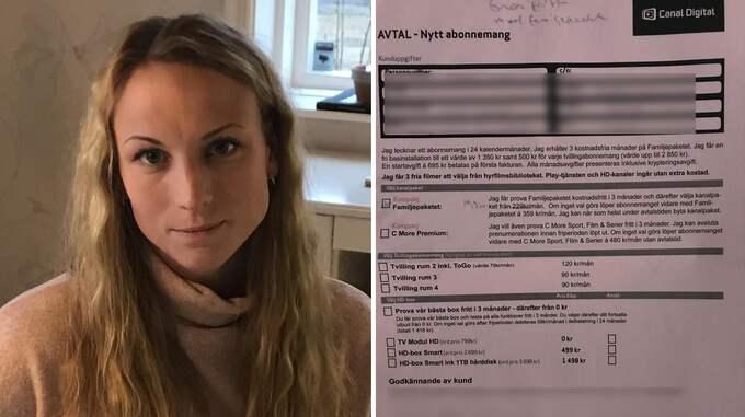 """""""Jag blir ledsen"""". Anna Dahlholms äldre släktingar fick hembesök av Canal Digital, och när han gick hade en demenssjuk 84-åring skrivit på ett tvåårsavtal. Foto: Privat"""
