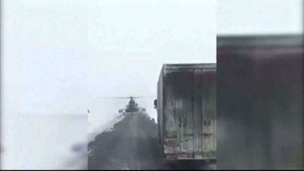 Mötet får lastbilschauffören att darra bakom ratten