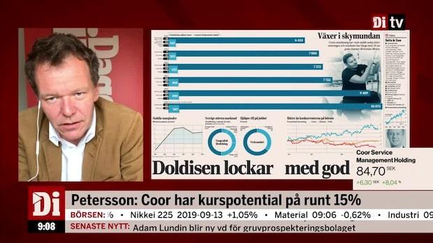 """Ulf Petersson ser köpläge i Coor: """"Växer bättre än konkurrenterna"""""""