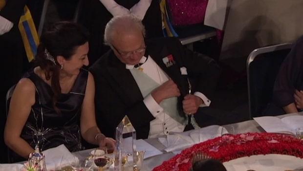 Här är bordsplaceringen på årets Nobelfest