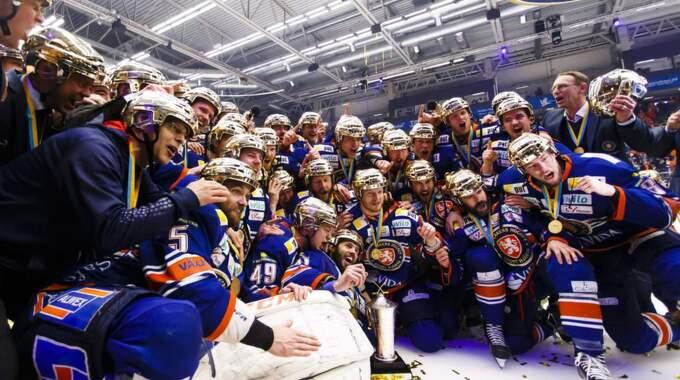 Växjö säkrade ett historiskt SM-guld på torsdagskvällen. Foto: Daniel Malmberg/All Over Press