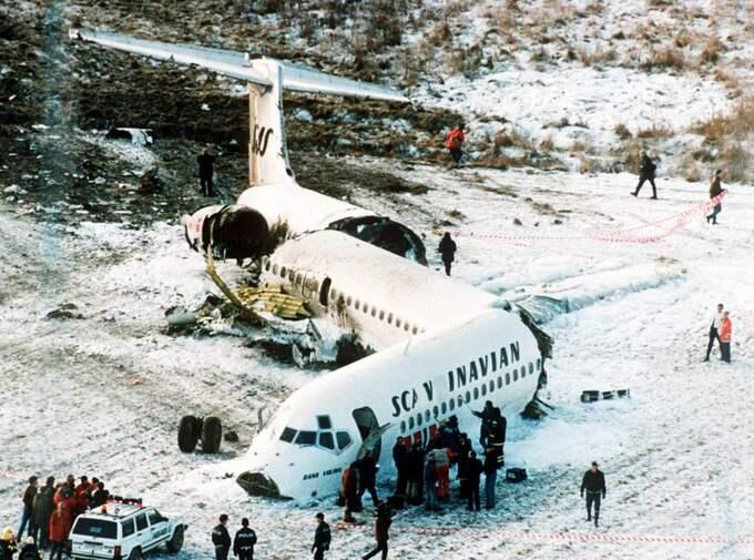 OSANNOLIKT. Samtliga passagerare överlevde när planet tvingades krascha i Gottröra 1991. På tisdag sänds en tv-dokumentär om händelsen. Foto: Lars Nyberg