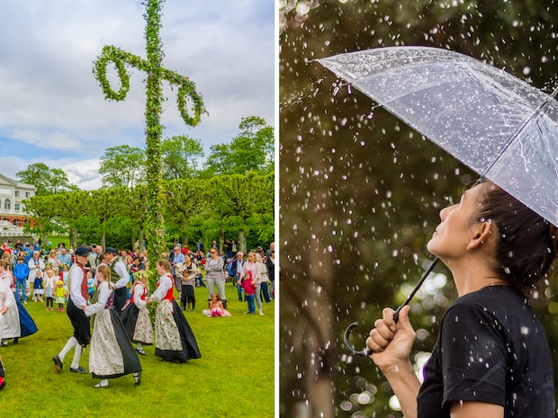 Regn, kyla och sol – så blir midsommarvädret där du bor