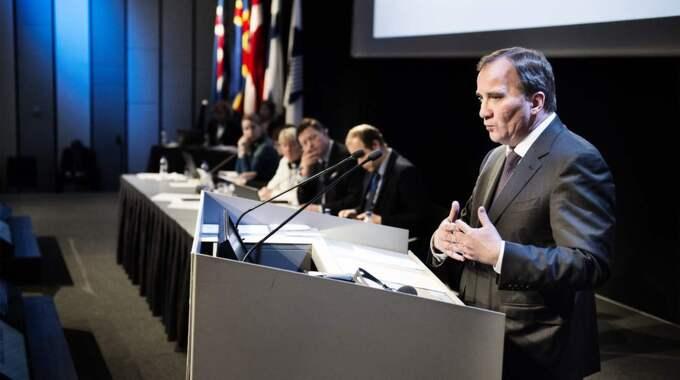 Statsminister Stefan Löfven medgav på Nordiska rådets öppnande att både socialdemokratiska och borgerliga regeringar misslyckats. Foto: Anna-Karin Nilsson