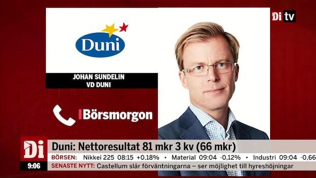 """Duni:s vd: """"Ännu mer nöjd med att vi ökade försäljningen med 16 procent"""""""