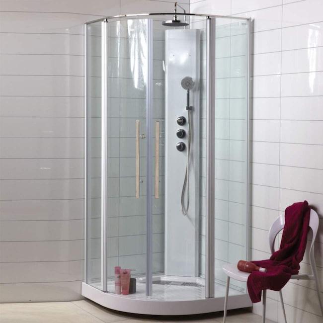 duschkabin under 2 m
