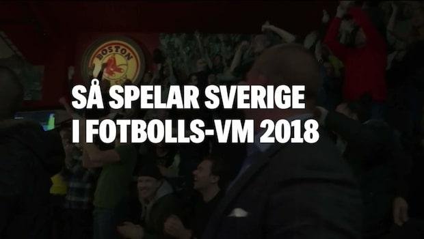 Så spelar Sverige i fotbolls-VM 2018