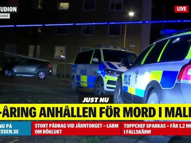 Malmö: 23-årig man anhållen för mord