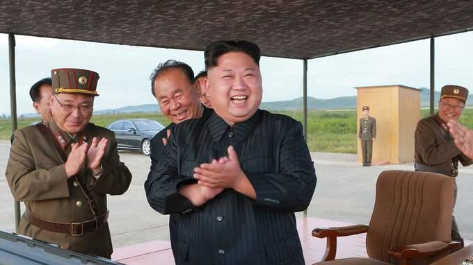 Nordkoreas ledare Kim Jong-Un. Foto: ????? / AP TT NYHETSBYRÅN