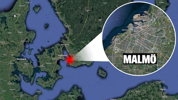 Biljakt i Malmö slutade med krock