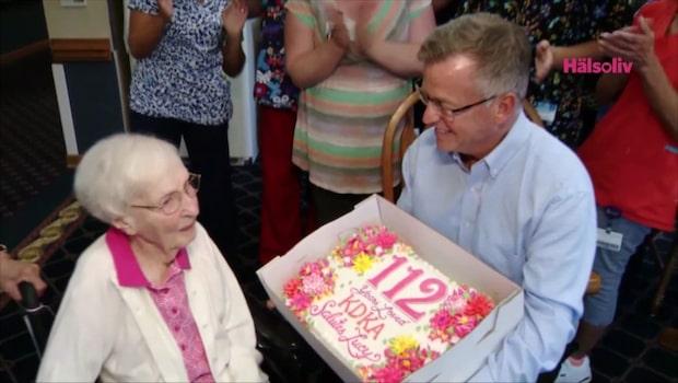 112-åringens hemlighet bakom sitt långa liv