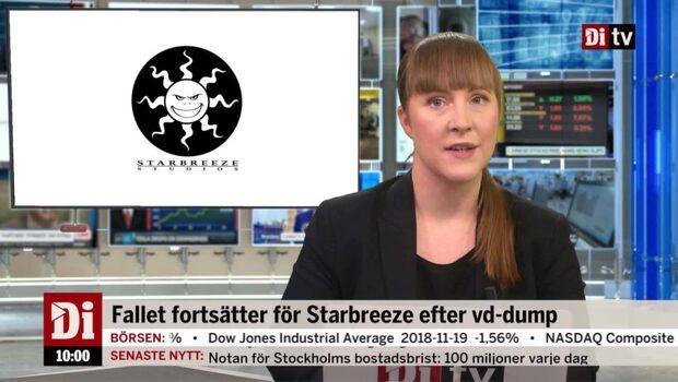 Di Nyheter 10.00 20 november - nytt Starbreeze-fall efter vd:s aktieförsäljning