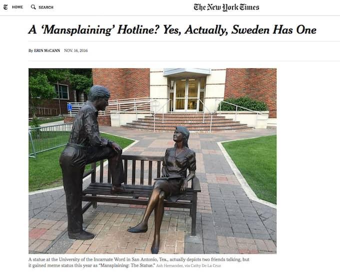 Kampanjen har blivit uppmärksammad i flera internationella medier, däribland New York Times. Foto: Skärmdump