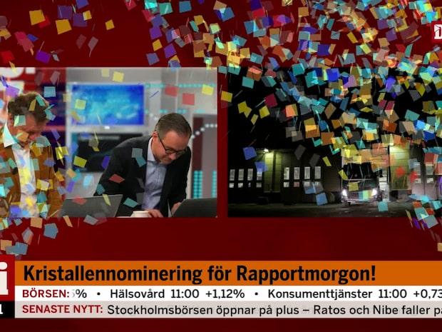 Di TV:s Rapportmorgon nominerat till tv-priset Kristallen