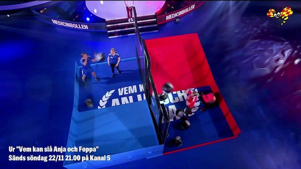 """Anja Pärsons otäcka skada i """"Vem kan slå Anja och Foppa"""""""
