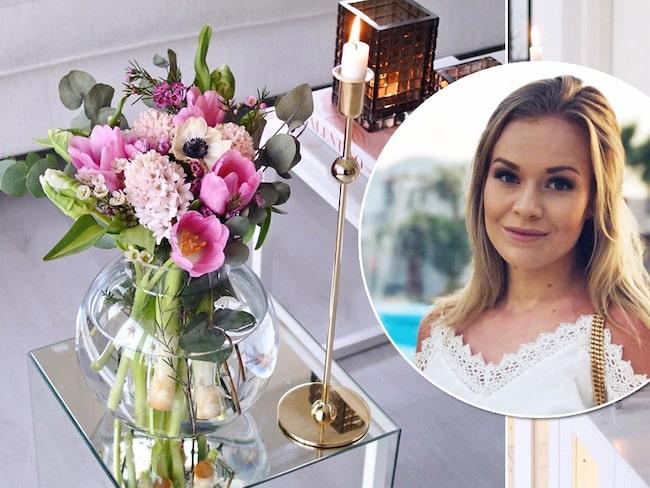 Linnra Jirasek, 24, bor i Fjällbacka med sin sambo. Speciellt för deras hem är att de alltid har färska blommor där.