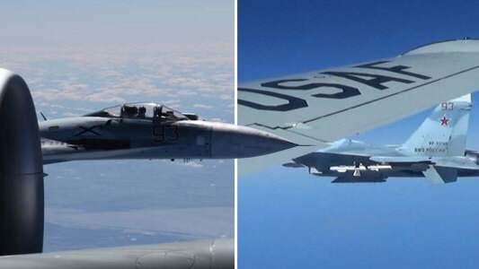 Ryskt plan flög meter från amerikanskt plan över Östersjön 8a405bddbfce5