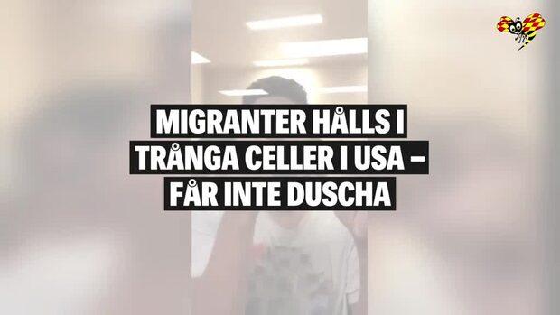 Klippet som visar hur migranter behandlas