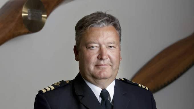 Stephan Persson-Tyrling vid Sektionen för luftoperationer på Försvarshögskolan i Stockholm. Foto: Rickard Kilström