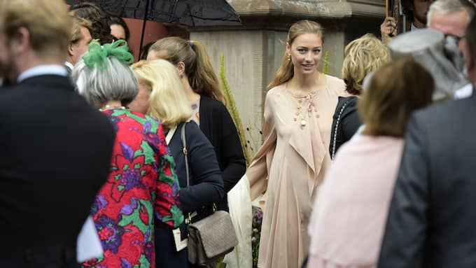 Beatrice Borromeo attended the wedding ceremony of Axel Staël von Holstein and Erika Widegren