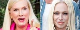 Gunilla Perssons relation med  Hollywoodfrun – bilden avslöjar