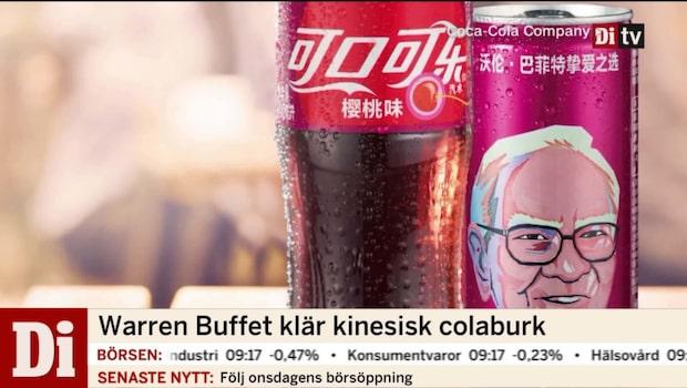 Warren Buffett klär kinesisk colaburk