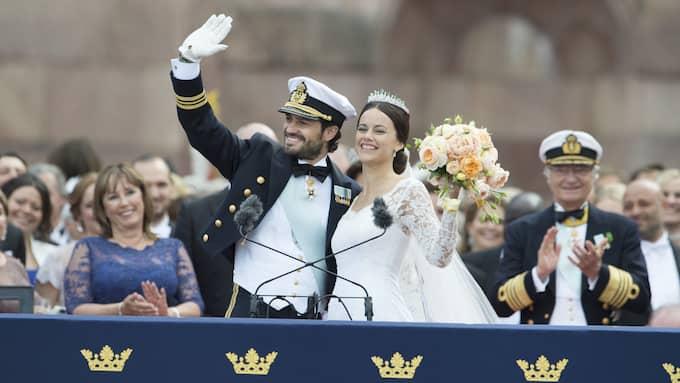Prins Carl Philip och prinsessan Sofia gifte sig 13 juni 2015. Foto: SVEN LINDWALL