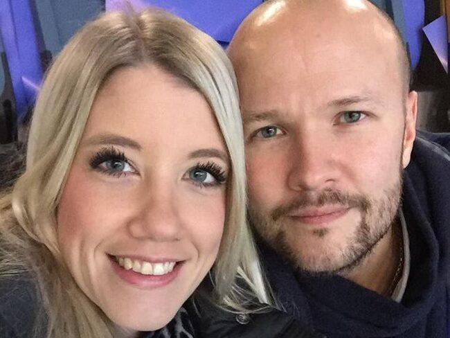 """Lena Frank och Stefan Sjöstedt har varit sambos i åtta år. """"Min pojkvän är mer romantisk än jag. Jag har världens finaste fästman."""""""